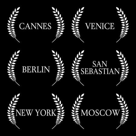 Film Festivals Black And White 1 Illustration