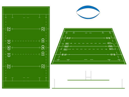 Rugby Union Field Vector