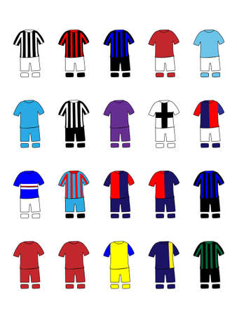 Italian League Clubs Kits 2013-14 Serie A Vector
