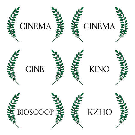 Cinema Laurels in Different Languages 1 Vector