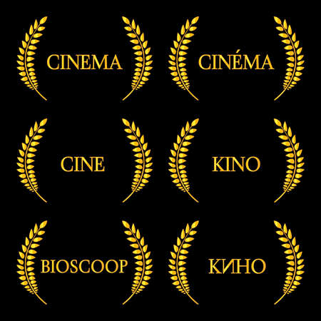 Cinema Laurels in Different Languages 2 Vector