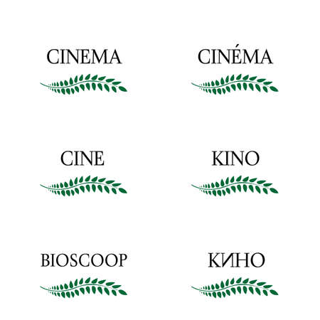 Cinema Laurels in Different Languages 3 Vector