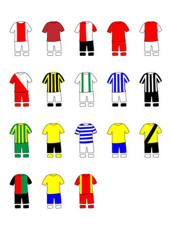 qualify: Dutch League Clubs Kits 2013-14 La Eredivisie Illustration