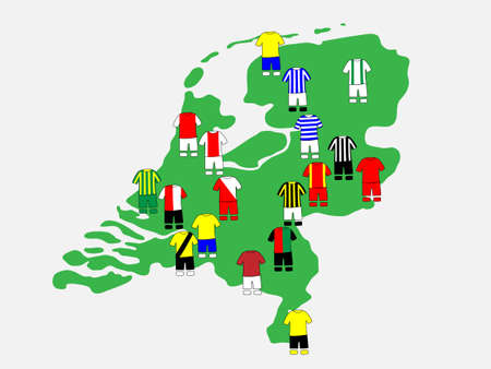 qualify: Dutch League Clubs Map 2013-14 Eredivisie