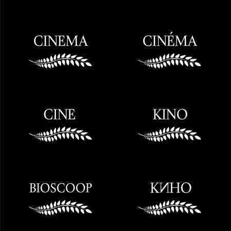 Cinema Laurels in Different Languages Black and White 2
