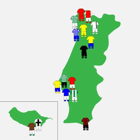 league: Portuguese League Clubs Map 2013-14 Primeira Liga
