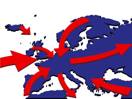 欧州拡大市場貿易ルート ビジネス Map 3D