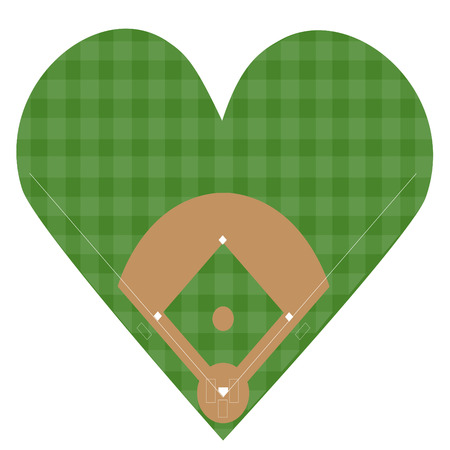 I Love Baseball Stock Vector - 27357905