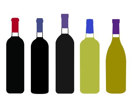 napa: Wines of the World Full Bottles Illustration