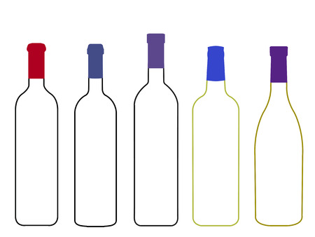 sommelier: Vinos del Mundo Botellas Vac�as Ilustraci�n