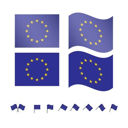 유럽의: 유럽 연합 플래그 EPS10 일러스트