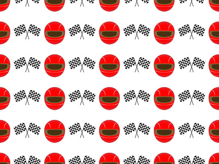 Racing Background Seamless Pattern 2 Red Vector