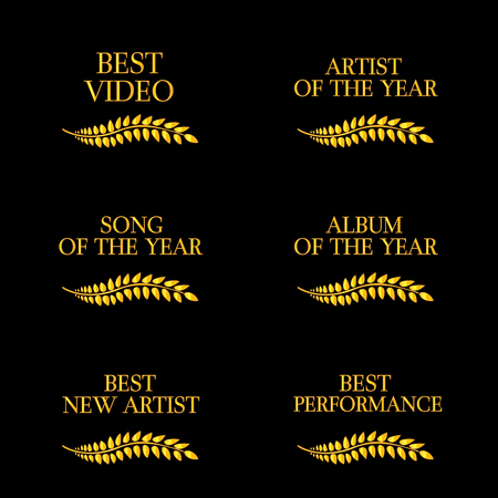 Music Video Awards Categories 4 Vector
