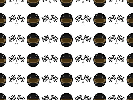 Racing Background Seamless Pattern 2 Black Vector