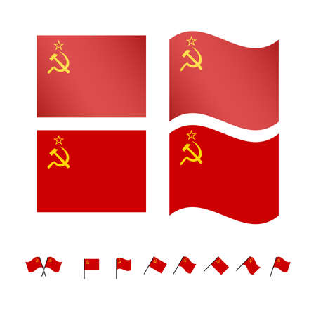 cold war: USSR Flags EPS10