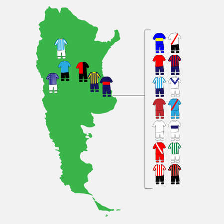 tigre: Argentinian League Clubs Map