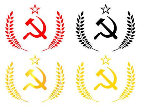 cold war: Communist Emblem Illustration
