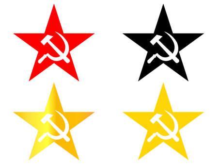 Communist Star Stock Vector - 27487944