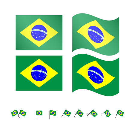 federative republic of brazil: Brazil Flags   Illustration