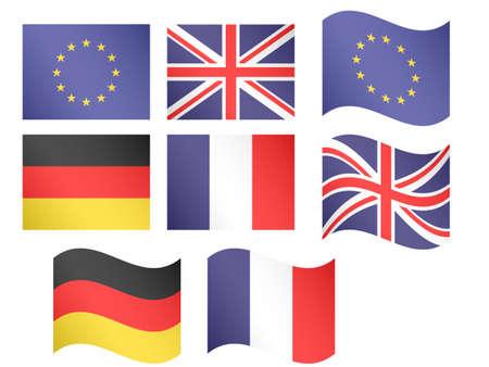 유럽의: 유럽 플래그 1 EPS 10