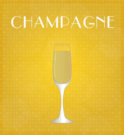 Drinks List Champagne with Golden Background EPS10 Vector