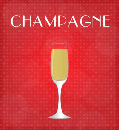 date night: Drinks List Champagne with Red Background EPS10