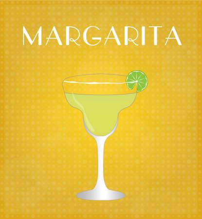 sec: Drinks List Margarita with Golden Background