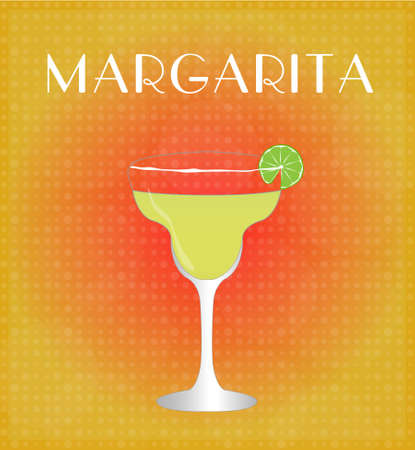 date night: Drinks List Margarita with Red   Golden Background