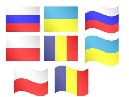 유럽의: 유럽 플래그 일러스트