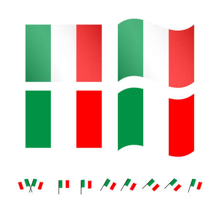 compatriot: Italy Flags Illustration