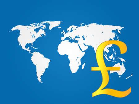 deregulation: Global Economy Pound   Illustration