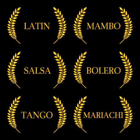 Latin Music Genres 2 Vector