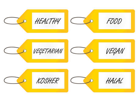 kosher: Healthy Food Tags 2 Yellow