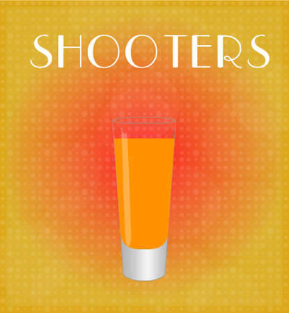 date night: Drinks List Shooters with Red   Golden Background EPS10
