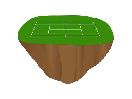isla flotante: Isla Flotante Hierba Pista de tenis