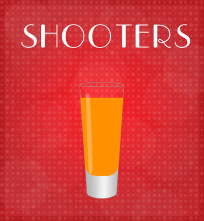 shooters: Drinks List Shooters with Red Background EPS10 Illustration