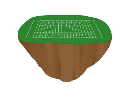 scrimmage: American Football Field Floating Island