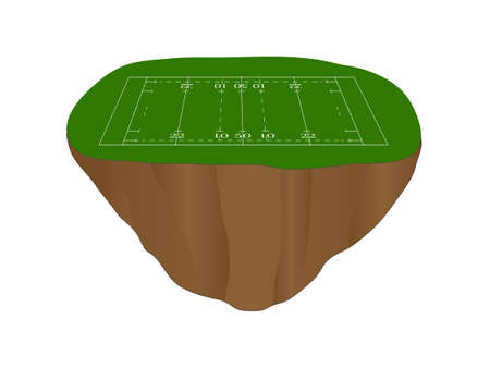 Rugby Union Field Floating Island