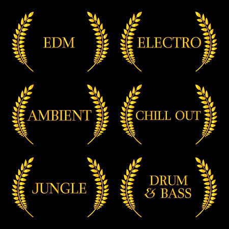 electronic music: Generi musicali elettronici 6 Vettoriali