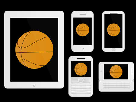 mobile devices: Mobile Devices with Basketball White