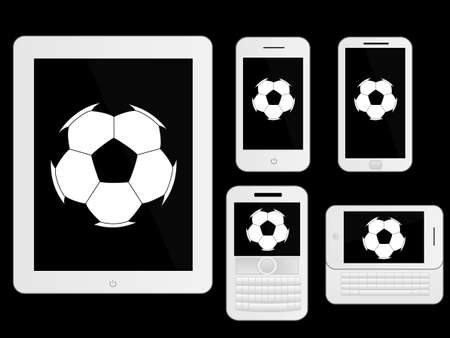 mobile devices: Mobile Devices with Football White