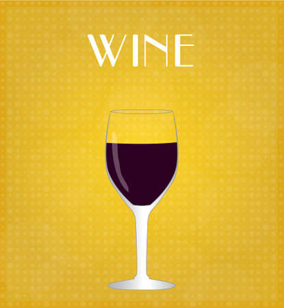 Drinks List Red Wine with Golden Background EPS10 Stok Fotoğraf - 27738465