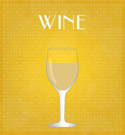 Drinks List White Wine with Golden Background