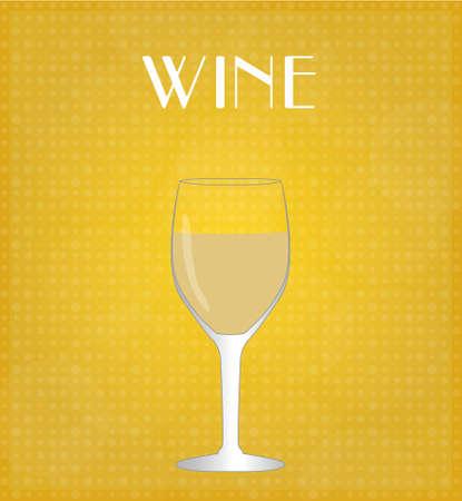 Drinks List White Wine with Golden Background
