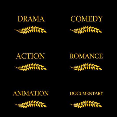 Film Genres 4 Vector