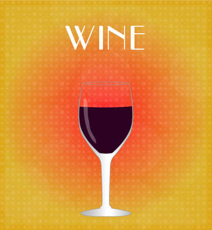 Drinks List Red Wine with Red   Golden Background EPS10 Stok Fotoğraf - 27738466