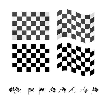 winning race: Checkered Flags EPS 10