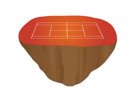 hard court: Clay Tennis Court Floating Island