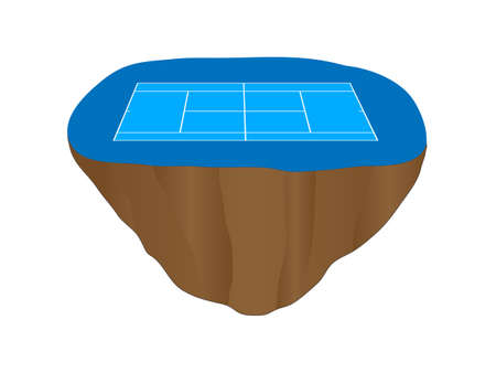 hard court: Hard Tennis Court Floating Island