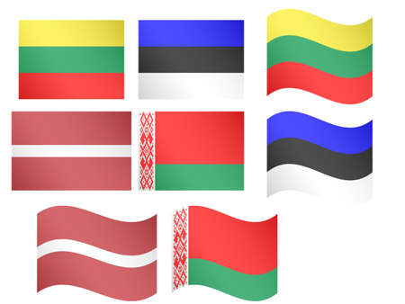 evropský: Evropské vlajky Ilustrace